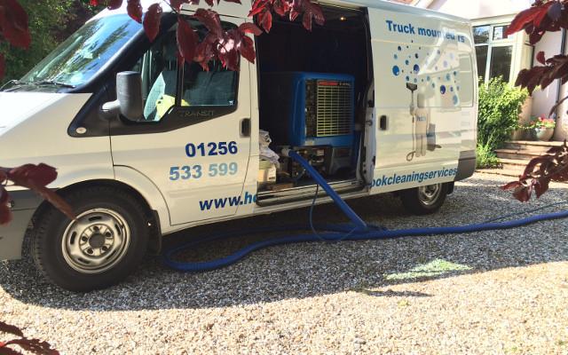 Carpet cleaning van Prochem technology