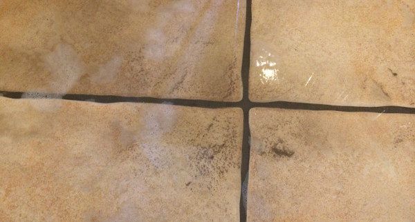 Grout haze issue