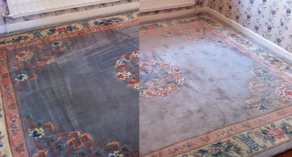 Chinese rug clean before after short
