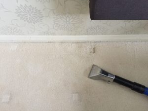 Coffee stain removal from carpet
